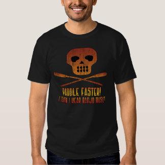 Paddel-schnellerer Schädel T Shirt