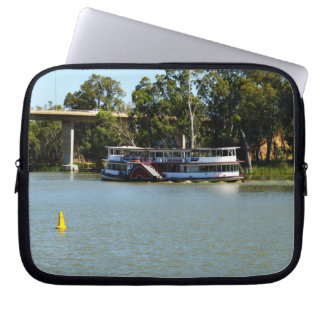 Paddle_Steamer_River-Murray_10inch_Laptop_Sleeve Laptop Sleeve