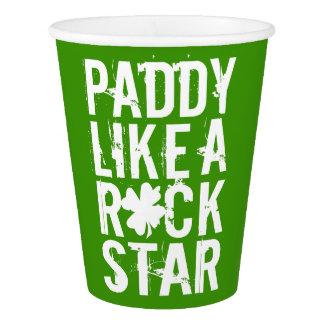 Paddy mögen einen Rockstar II Pappbecher