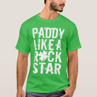 Paddy mögen einen Rockstar T-Shirt