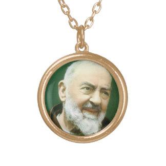 Padre Pio heilige Medaille Halskette Mit Rundem Anhänger