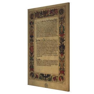 Page'Geheim Ehrenbuch Fuggerschen Geschlechts Galerie Falt Leinwand