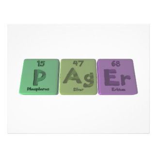 Pager-P-Ag-Er-Phosphorus-Silver-Erbium png Personalisierte Flyer