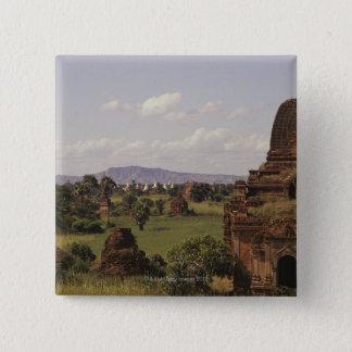 Pagon Tempel in Birma Quadratischer Button 5,1 Cm