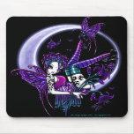 Paige dunkle Regenbogen-Blumen-Mond-Fee Mousepad