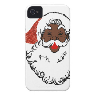Paillette Afrikaner Weihnachtsmann iPhone 4 Cover