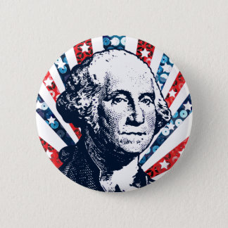 Paillette George Washington Runder Button 5,7 Cm
