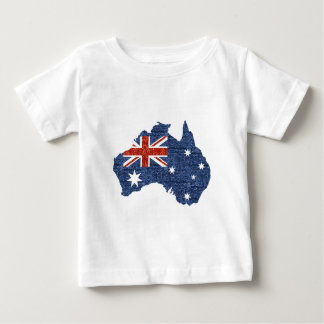 Pailletteaustralierflagge Baby T-shirt