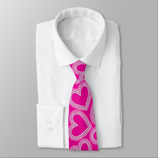Pailletteherzen Krawatte