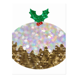 Pailletteweihnachtspuddings Postkarte
