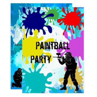 Paintball-14. Geburtstag Karte