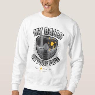 Paintball auf Ihrem Gesicht Sweatshirt