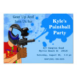 Paintball-Geburtstags-Party Einladung 12,7 X 17,8 Cm Einladungskarte