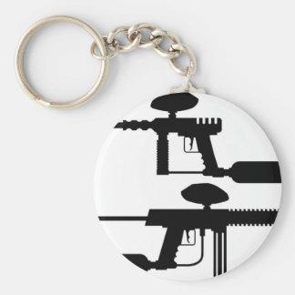 Paintball-Gewehr Standard Runder Schlüsselanhänger