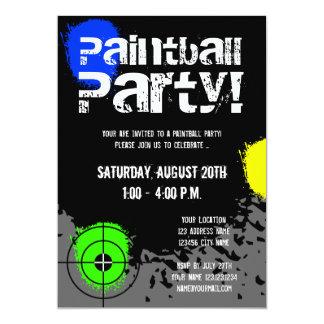 Paintball-Party Einladungen | Gewohnheit lädt ein