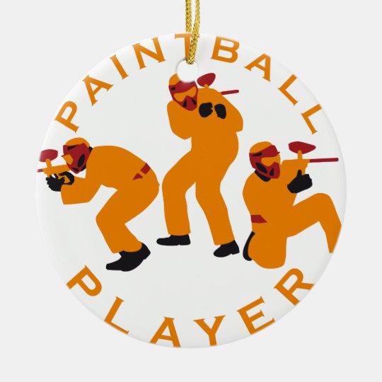 paintball players keramik ornament