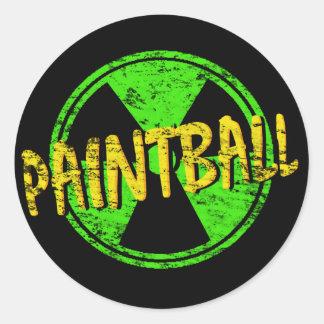 Paintball radioaktiv runder aufkleber