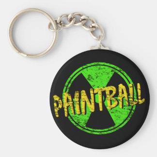 Paintball radioaktiv standard runder schlüsselanhänger
