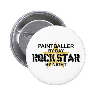 Paintballer Rockstar bis zum Nacht Runder Button 5,1 Cm