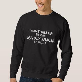 Paintballer tödliches Ninja bis zum Nacht Sweatshirt