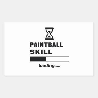 Paintballfähigkeit Laden ...... Rechteckiger Aufkleber