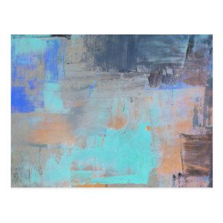 Painterly Blues - horizontal Postkarte