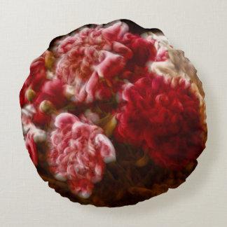 Painterly Carmin roter Rundes Kissen