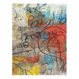 Painterly Gekritzel Postkarte