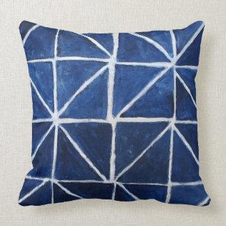 Painterly Muster dunkelblau Kissen
