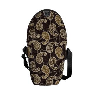 Paisley-Arthintergrund Kurier Tasche