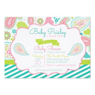Paisley-Babyparty-Einladung 12,7 X 17,8 Cm Einladungskarte
