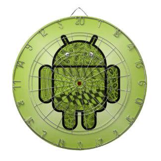 Paisley-Charakter für den Android™ Roboter Dartscheibe