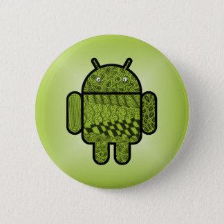 Paisley-Charakter für den Android™ Roboter Runder Button 5,7 Cm