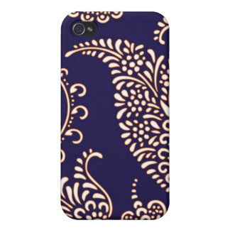 Paisley des Damastes Vintages girly Blumenchicmust iPhone 4 Cover
