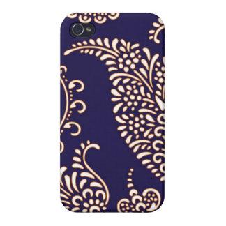 Paisley des Damastes Vintages girly iPhone 4 Schutzhülle