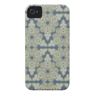Paisley-Diamant-Grün-Retro modernes iPhone 4 Hülle
