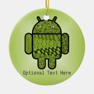 Paisley-Gekritzel-Charakter für Android™ Keramik Ornament
