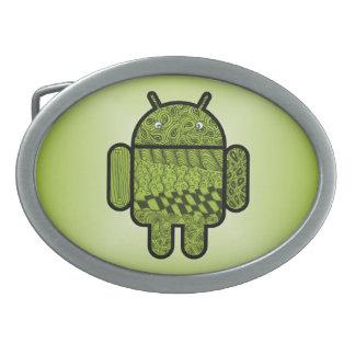 Paisley-Gekritzel-Charakter für Android™ Ovale Gürtelschnalle