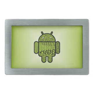 Paisley-Gekritzel-Charakter für Android™ Rechteckige Gürtelschnalle