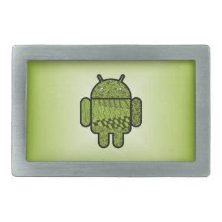 Paisley-Gekritzel-Charakter für Android™ Rechteckige Gürtelschnallen