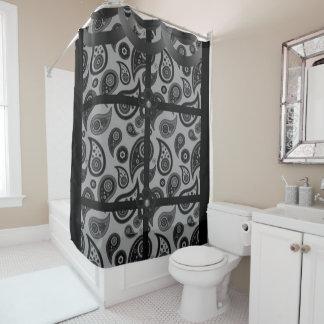 Paisley graues schwarzes showercurtain duschvorhang