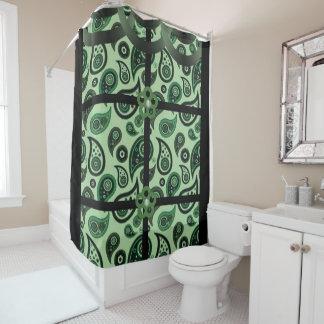 Paisley grünes schwarzes showercurtain duschvorhang