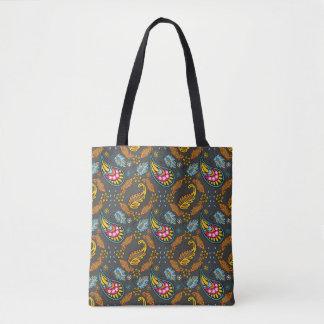Paisley-Herbst verlässt verwickelte orange Tasche