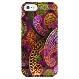 Paisley lila durchsichtige iPhone SE/5/5s hülle