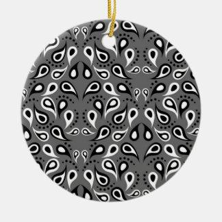 Paisley-Muster-Entwurfs-Druck-Schwarzes Keramik Ornament