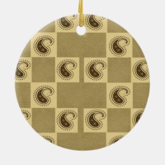 Paisley-Muster Keramik Ornament