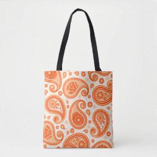 Paisley-Muster-Leuchtorange elegant Tasche
