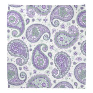 Paisley-Muster lila und grün Halstuch