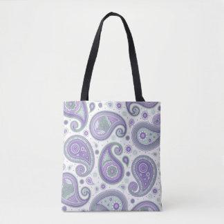 Paisley-Muster lila und grün Tasche