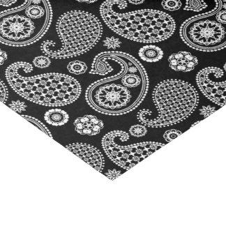 Paisley-Muster, Schwarzweiss Seidenpapier